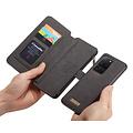 CaseMe CaseMe - Samsung Galaxy S20 Ultra hoesje - Wallet Book Case met Ritssluiting - Zwart