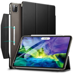 iPad Pro 11 (2020) hoes - Yippee Tri-fold - Slim Fit Smart Stand Case - Zwart
