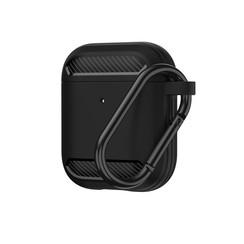 Apple Airpods 1/2 hoesje - Premium Siliconen beschermhoes - 3.0 mm - Zwart