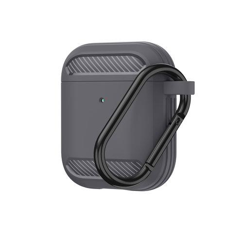 WIWU Apple Airpods 1/2 hoesje - Premium Siliconen beschermhoes - 3.0 mm - Grijs