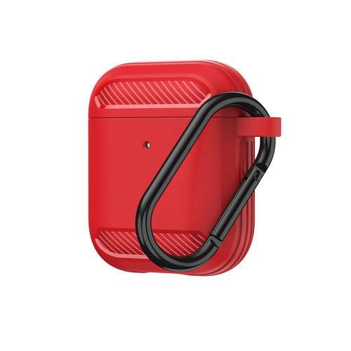 WIWU Apple Airpods 1/2 hoesje - Premium Siliconen beschermhoes - 3.0 mm - Rood