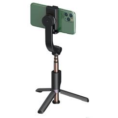 Wiwu - Opvouwbare Tripod Gimbal Selfiestick - Bluetooth - Met afstandbediening - Universeel geschikt voor smartphone - Zwart