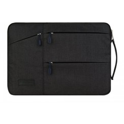 Laptop en Macbook sleeve 13.3 / 14 inch - WiWu Gent Business Sleeve - Laptoptas - Waterafstotend - Zwart