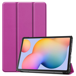 Samsung Galaxy Tab S6 Lite hoes  - Tri-Fold Book Case - Paars