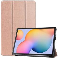 Samsung Galaxy Tab S6 Lite hoes  - Tri-Fold Book Case - Rosé Goud