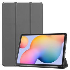 Samsung Galaxy Tab S6 Lite hoes  - Tri-Fold Book Case - Grijs