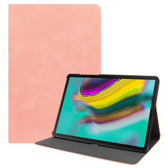 Samsung Galaxy Tab S5e hoes - PU Leer Folio Book Case - Roze
