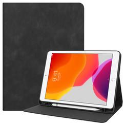 iPad 10.2 inch (2019) hoes - PU Leer Folio Book Case - Zwart