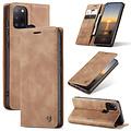 CaseMe CaseMe - Samsung Galaxy A21s hoesje - Wallet Book Case - Magneetsluiting - Licht Bruin