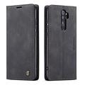 CaseMe CaseMe - Xiaomi Redmi Note 8 Pro hoesje - Wallet Book Case - Magneetsluiting - Zwart