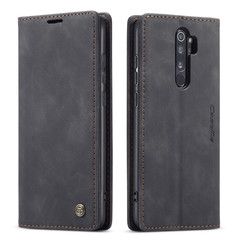 CaseMe - Xiaomi Redmi Note 8 Pro hoesje - Wallet Book Case - Magneetsluiting - Zwart