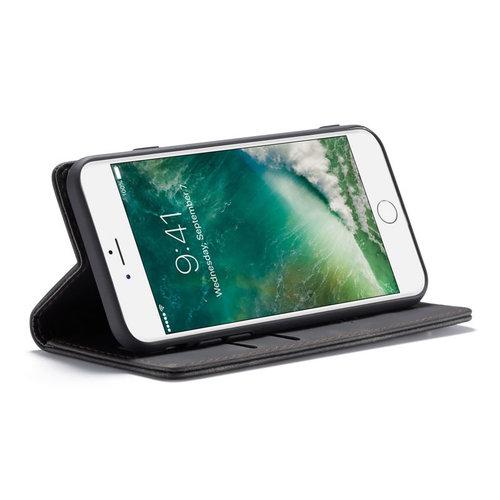CaseMe CaseMe - iPhone 7/8/SE 2020 hoesje - Wallet Book Case - Magneetsluiting - Zwart
