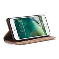 CaseMe CaseMe - iPhone 7/8/SE 2020 hoesje - Wallet Book Case - Magneetsluiting - Bruin