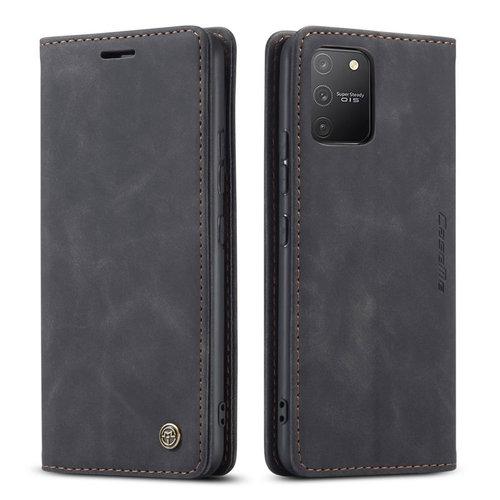 CaseMe CaseMe - Samsung Galaxy S10 Lite hoesje - Wallet Book Case - Magneetsluiting - Zwart