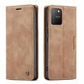 CaseMe CaseMe - Samsung Galaxy S10 Lite hoesje - Wallet Book Case - Magneetsluiting - Bruin