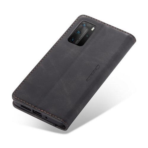 CaseMe CaseMe - Huawei P40 Pro Plus hoesje - Wallet Book Case - Magneetsluiting - Zwart