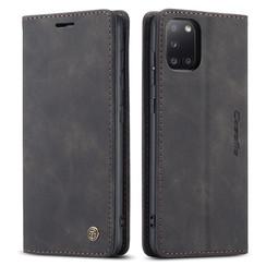 CaseMe - Samsung Galaxy A31 hoesje - Wallet Book Case - Magneetsluiting - Zwart