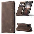 CaseMe CaseMe - Samsung Galaxy A31 hoesje - Wallet Book Case - Magneetsluiting - Donker Bruin