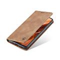 CaseMe CaseMe - Samsung Galaxy A41 hoesje - Wallet Book Case - Magneetsluiting - Bruin