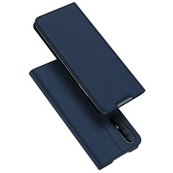 Dux Ducis - Case for Oppo Find X2 - Ultra Slim PU Leather Flip Folio Case with Magnetic Closure - Blue