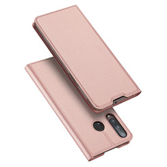 Dux Ducis - Case for Huawei P40 Lite E - Ultra Slim PU Leather Flip Folio Case with Magnetic Closure - Pink