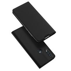 Dux Ducis - Case for Motorola Moto E6s - Ultra Slim PU Leather Flip Folio Case with Magnetic Closure - Black