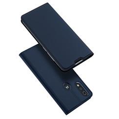Dux Ducis - Case for Motorola Moto E6 Plus - Ultra Slim PU Leather Flip Folio Case with Magnetic Closure - Blue