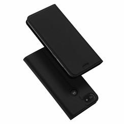 Dux Ducis - Case for Motorola Moto E6 Play - Ultra Slim PU Leather Flip Folio Case with Magnetic Closure - Black