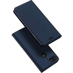 Motorola Moto E6 Play Hoesje - Dux Ducis Skin Pro Book Case - Blauw