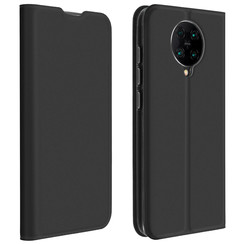 Dux Ducis - Case for Xiaomi Poco F2 Pro - Ultra Slim PU Leather Flip Folio Case with Magnetic Closure - Black