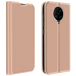 Dux Ducis - Case for Xiaomi Poco F2 Pro - Ultra Slim PU Leather Flip Folio Case with Magnetic Closure - Rosé Gold