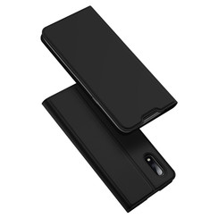 Dux Ducis - Case for Samsung Galaxy M01 - Ultra Slim PU Leather Flip Folio Case with Magnetic Closure - Black