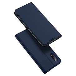 Dux Ducis - Case for Samsung Galaxy M01 - Ultra Slim PU Leather Flip Folio Case with Magnetic Closure - Blue