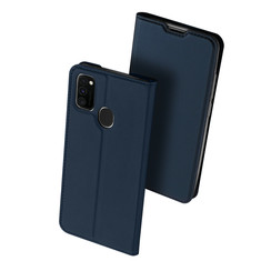 Dux Ducis - Case for Samsung Galaxy M21 - Ultra Slim PU Leather Flip Folio Case with Magnetic Closure - Blue