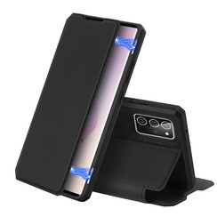 Dux Ducis - Case for Samsung Galaxy Note 20 - Skin X Series Magnetic Flip Case with Card Slot - Black