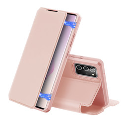 Dux Ducis - Case for Samsung Galaxy Note 20 - Skin X Series Magnetic Flip Case with Card Slot - Pink