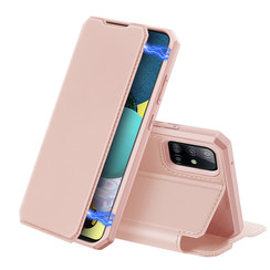 Dux Ducis - Case for Samsung Galaxy A51 5G - Skin X Series Magnetic Flip Case with Card Slot - Pink