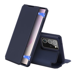 Dux Ducis - Case for Samsung Galaxy Note 20 Ultra - Skin X Series Magnetic Flip Case with Card Slot - Navy Blue