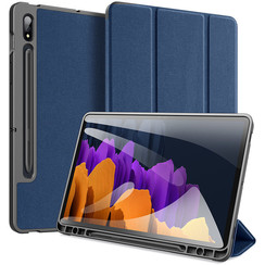 Samsung Galaxy Tab S7 hoes - Dux Ducis Domo Book Case - Blauw