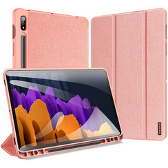 Samsung Galaxy Tab S7 hoes - Dux Ducis Domo Book Case - Roze