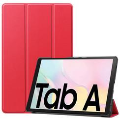 Samsung Galaxy Tab A7 (2020) hoes - Tri-Fold Book Case - Rood