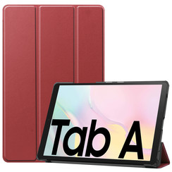 Samsung Galaxy Tab A7 (2020) hoes - Tri-Fold Book Case - Donker Rood