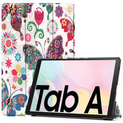 Samsung Galaxy Tab A7 (2020) hoes - Tri-Fold Book Case - Vlinders