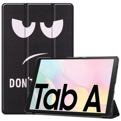 Samsung Galaxy Tab A7 (2020) hoes - Tri-Fold Book Case - Don't Touch Me