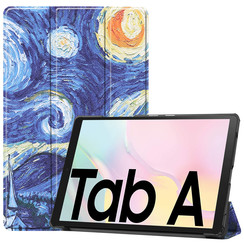 Samsung Galaxy Tab A7 (2020) hoes - Tri-Fold Book Case - Sterrenhemel