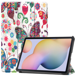 Samsung Galaxy Tab S7 (2020) hoes - Tri-Fold Book Case - Vlinders
