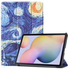 Samsung Galaxy Tab S7 (2020) hoes - Tri-Fold Book Case - Sterrenhemel