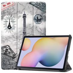 Samsung Galaxy Tab S7 (2020) hoes - Tri-Fold Book Case - Eiffeltoren