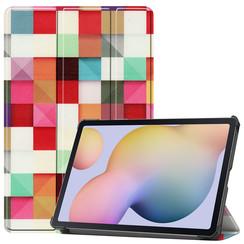 Samsung Galaxy Tab S7 (2020) hoes - Tri-Fold Book Case - Blocks