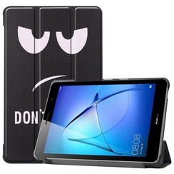 Huawei MatePad T8 hoes - Tri-Fold Book Case - Don't Touch Me